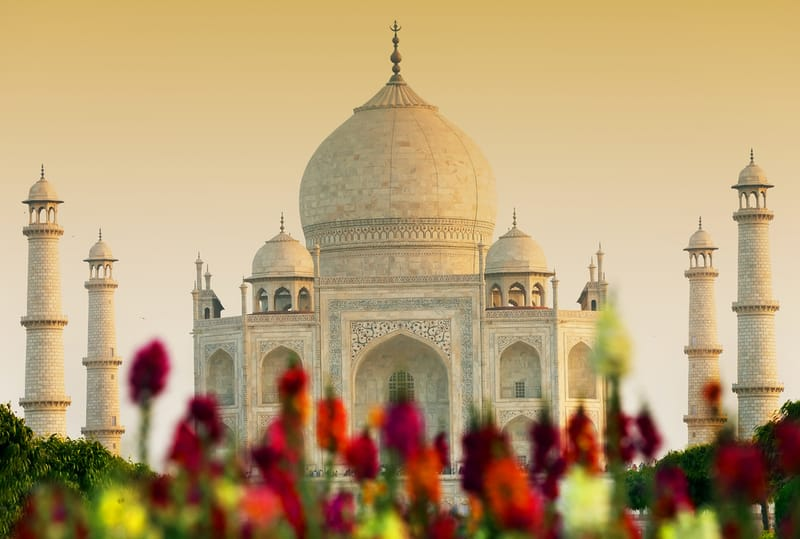 The unsurpassed architecture of Taj Mahal created by various artists