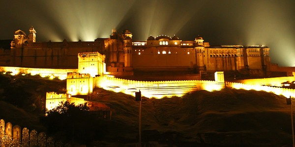 Sound and Light Show at Amer Fort