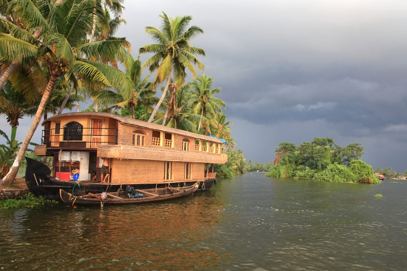 A Houseboat on the Kuttanad Backwaters