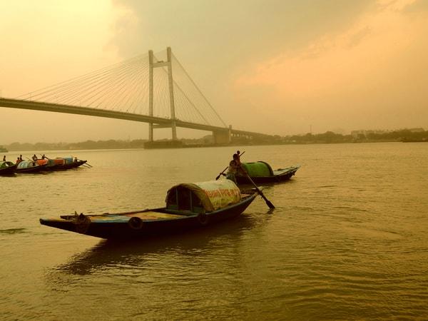 Early Morning View of River Ganga in Kolkata
