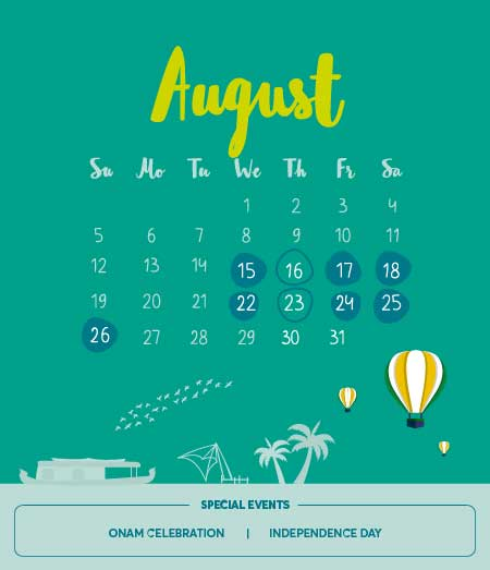List of Long Holidays in August 2018