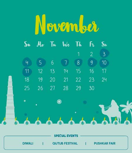November 2018 Long Weekends