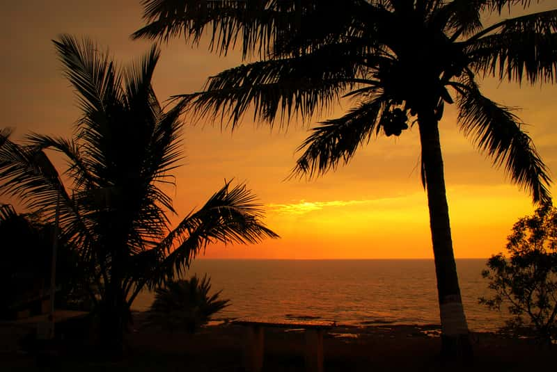 A sunset as seen from the Alibaug beach