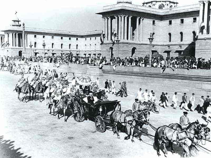 Rrepublic Day Parade in 1950s