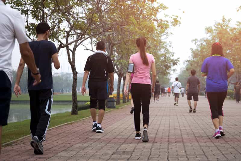 Enjoy an early morning walk