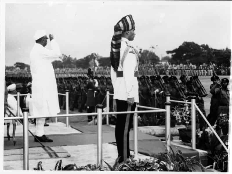 Dr. Rajendra Prasad in First Republic Day Parade