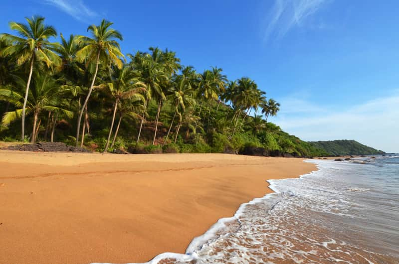 A sandy beach in Goa