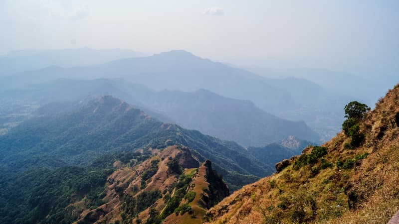 A view of the Sahyadris from Panchgani