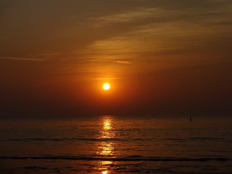 Almost sunset At Vasai Beach