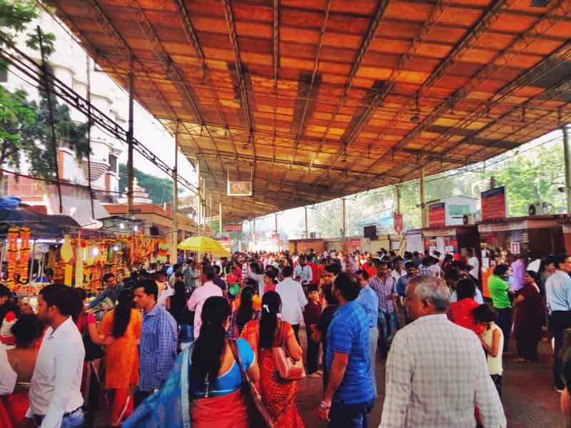 Devotees gathered in the thousands at the Siddhivinayak Temple