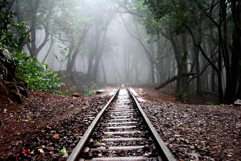 The Matheran toy train track