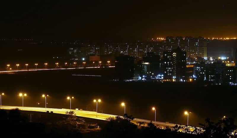 Navi Mumbai as seen from the hills