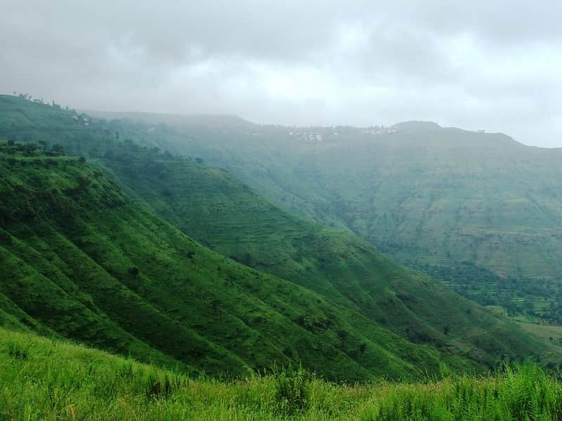 The stunning, green landscape at Panchgani