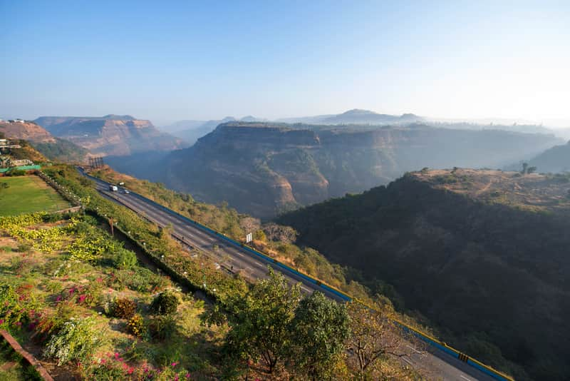 View from the Khandala Ghat leading up to the town of Lonavala