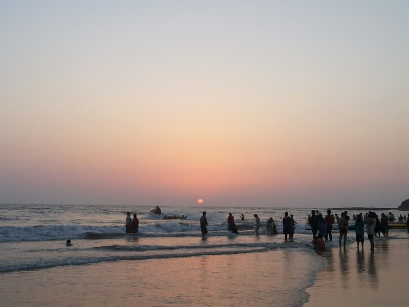 People enjoying themselves at the Alibaug beach