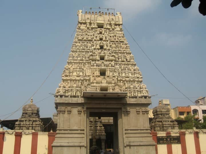 The Balaji temple is modeled after the temple in Tirupati.