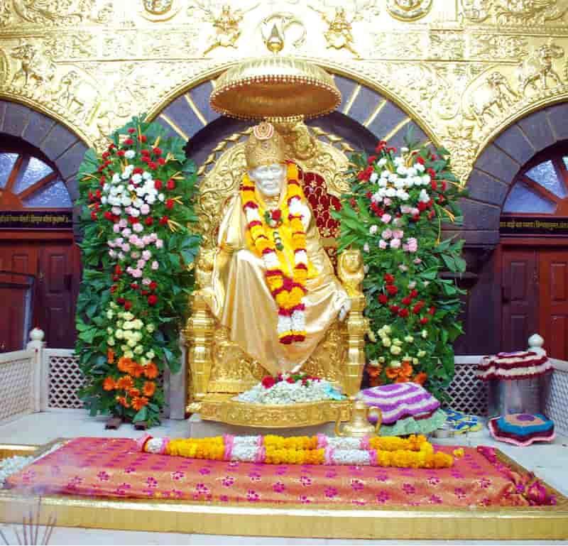 The Samadhi at the Shirdi Sai Baba Temple