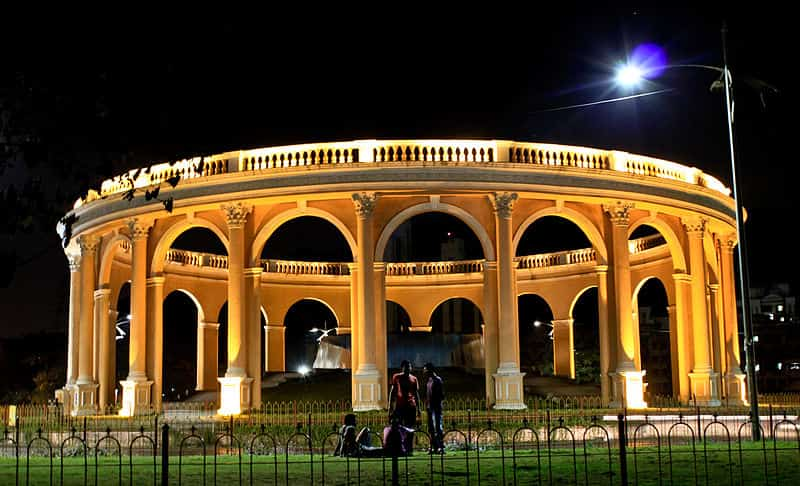 The Utsav Chowk at night