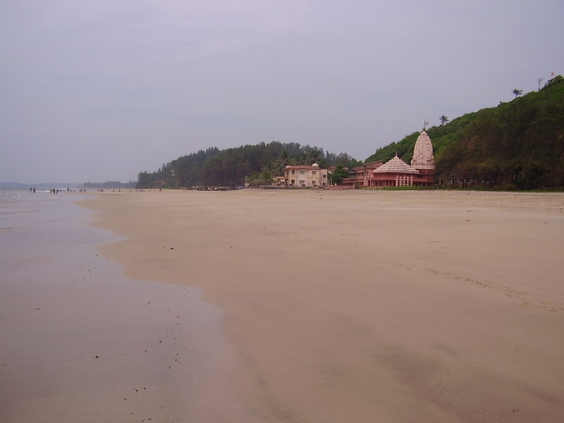 The beach at Ganpatipule