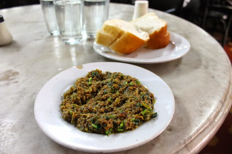 The famous Kheema Pav at Olympia Coffee House
