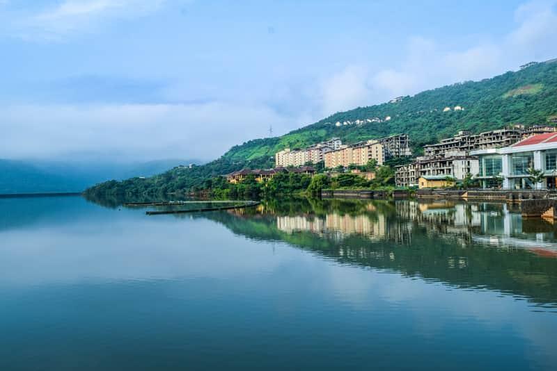 The lake in Lavasa