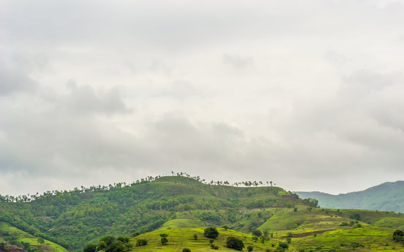 The lush green mountains of Panshet, near Pune