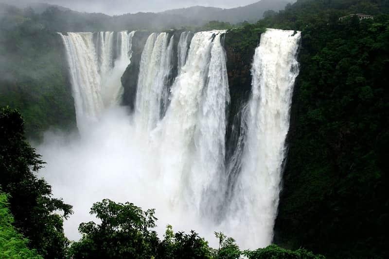 The majestic Thoseghar Falls amidst lush greenery