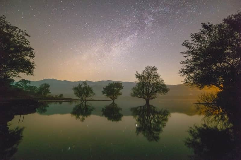 The night sky by Mulshi Lake