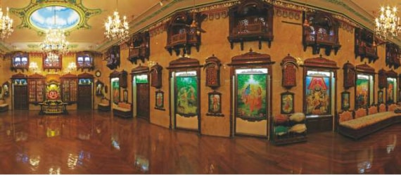 The paintings at the Sri Sri Radha Gopinath Temple