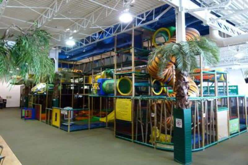 The play area at Zigzagzoo