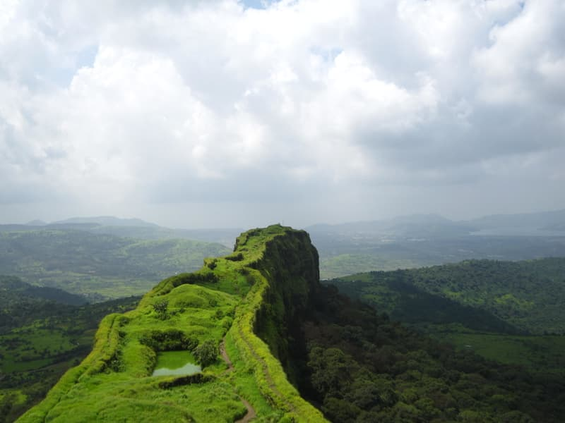 The stunning view from Lohagad Fort