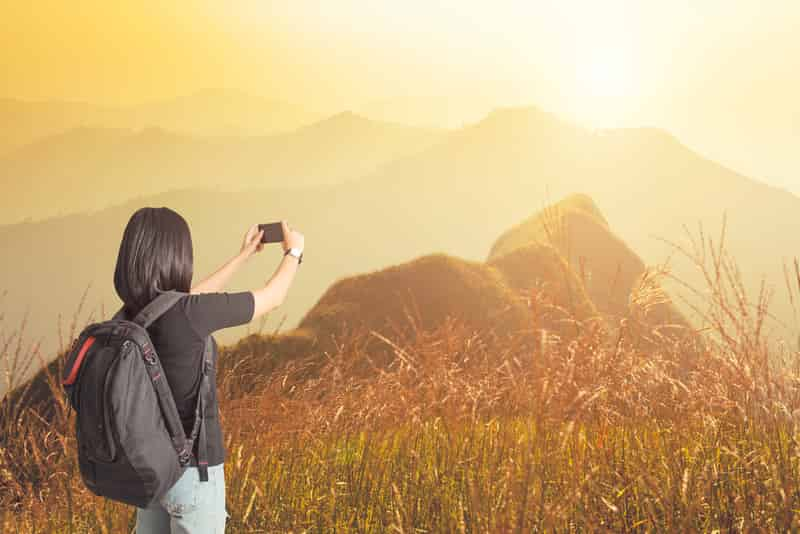 Traveler Clicking Pictures