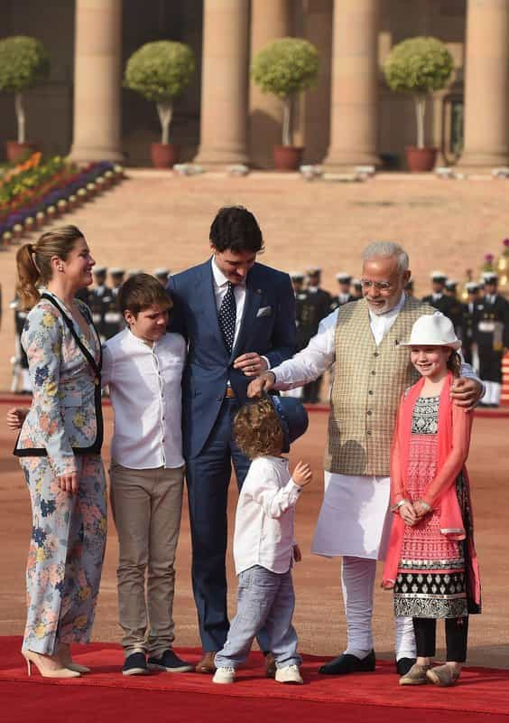 Hadrien and PM Modi becoming friends