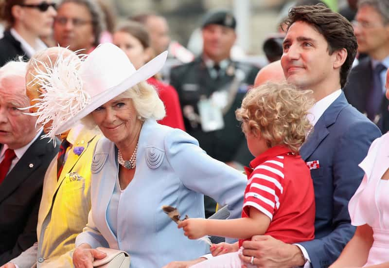 Hadrien befriending Camilla, the Duchess of Cornwall on the Royal Couple's visit to Canada in July 2017