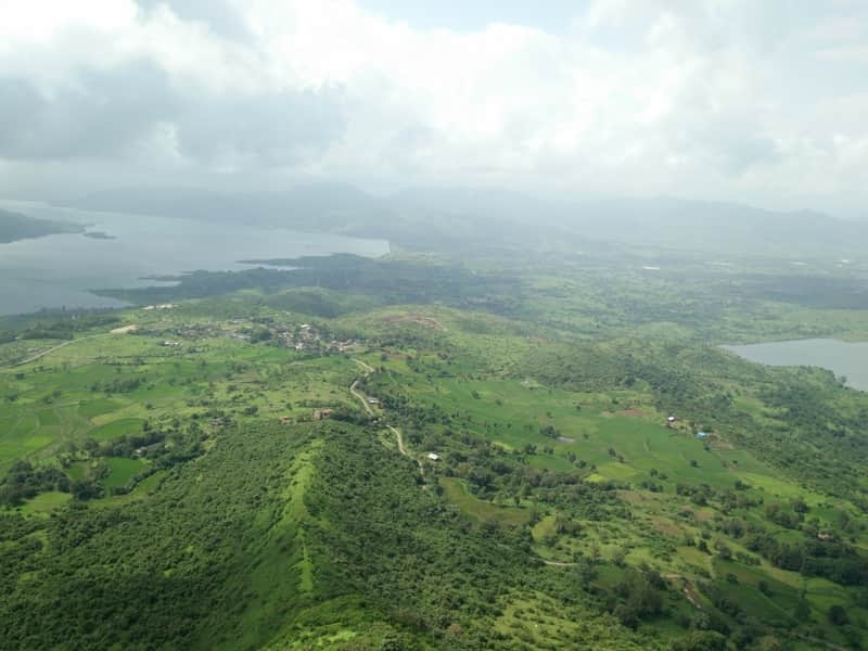 The view from Tikona Fort in Kamshet