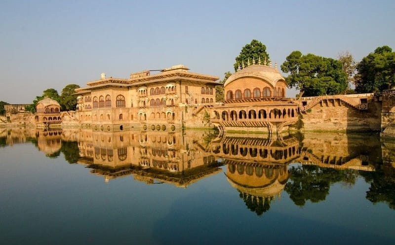 A Lakeside fort at Bharatpur
