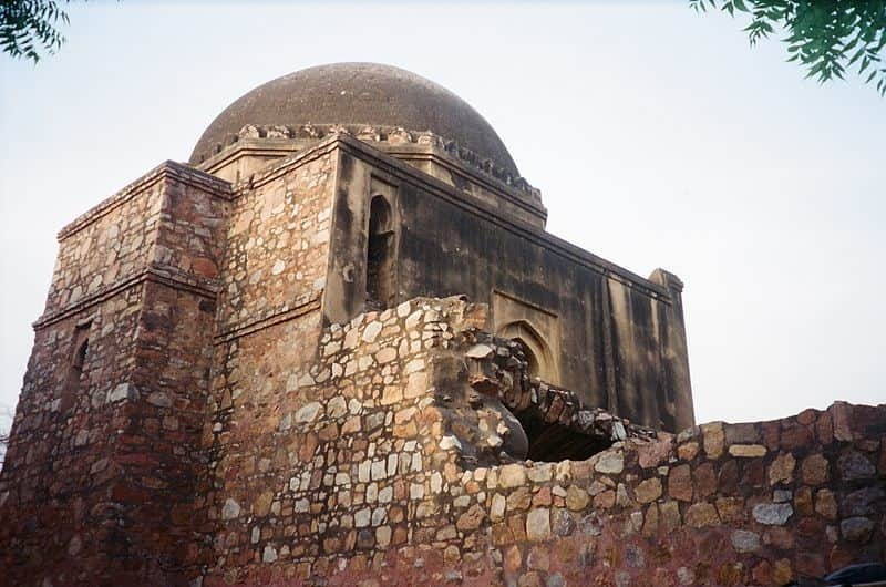 A view of the Masjid in Siri Fort
