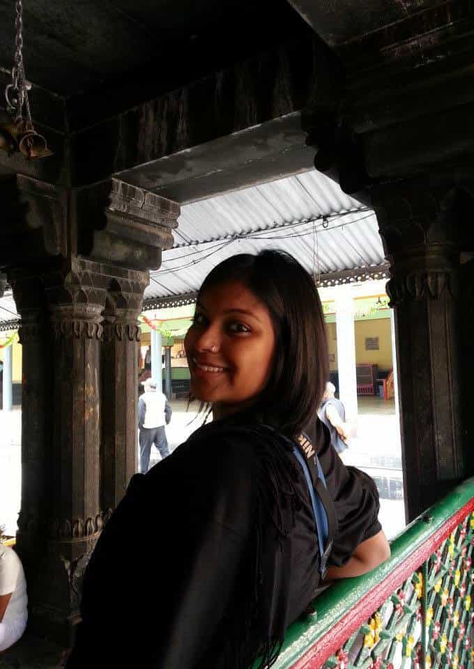 Amrita Das at Bodhgaya in Bihar