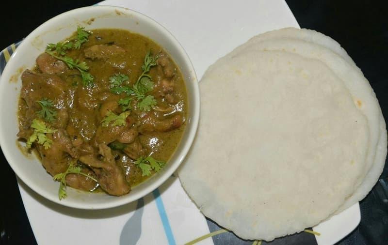 Ari Pathri and Chicken Curry