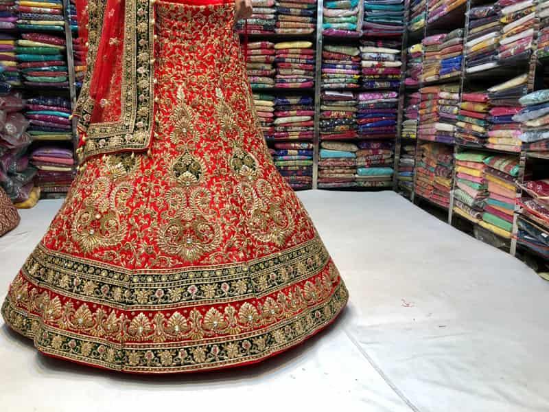 Beautiful Zardosi fabric at the Central Market