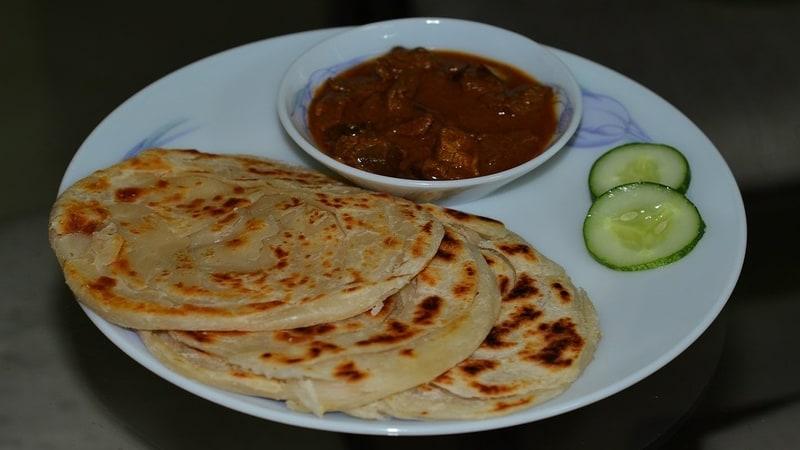 Beef Fry and Malabar Parotta