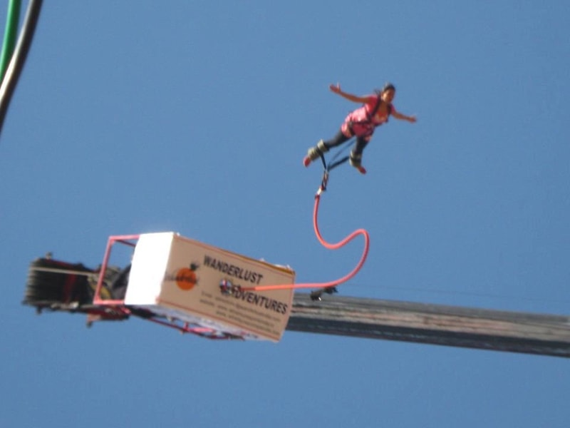 Bungee jumping at Wanderlust Adventure Sports