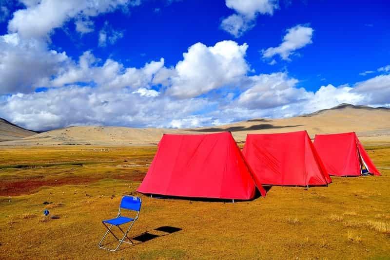 Camping Near Tso Moriri Lake