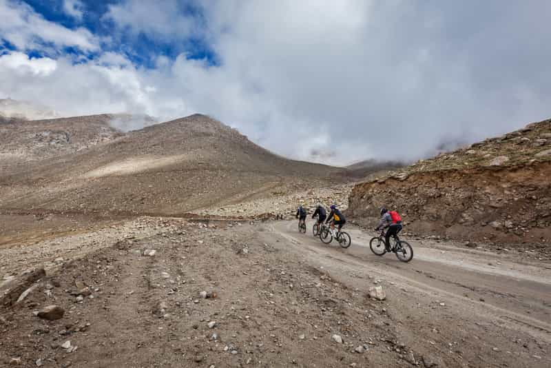 Cycling Tour at Khardung La Pass