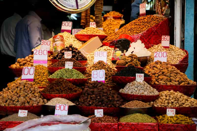 Dry Spices and Fruits in Chandni Chowk
