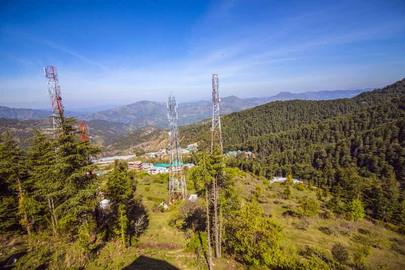 Enjoy stunning views of the hills at Chail