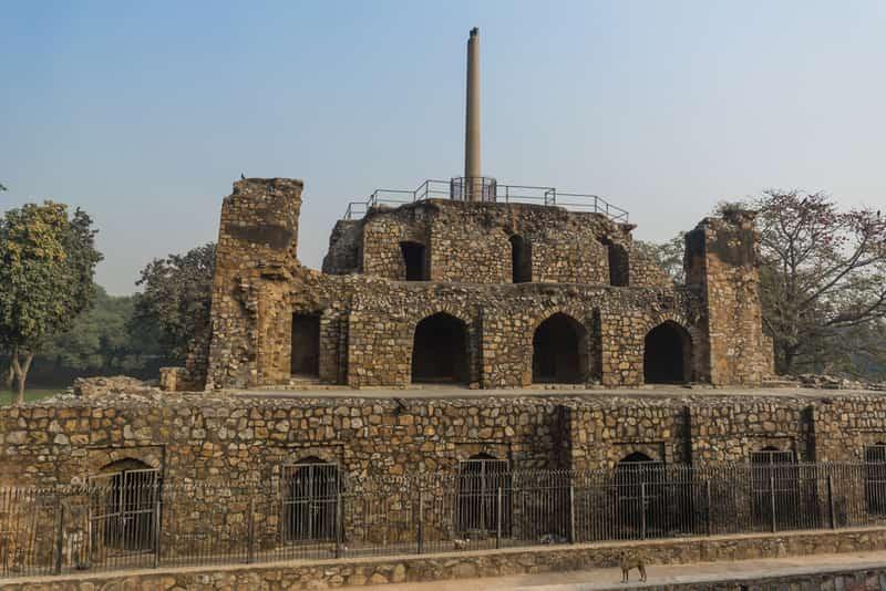 Feroz Shah Kotla was built in the 14th century