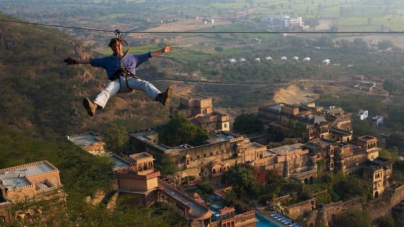 Flying Fox adventure in Neemrana
