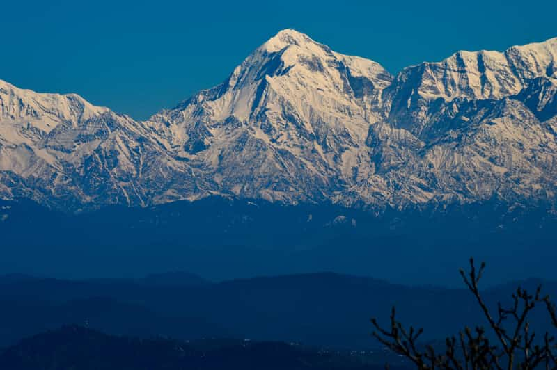 From Mukteshwar you can get to see stunning views of the Trishul hills