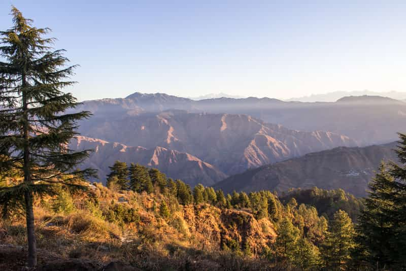 Gaze at splendid views of the sunrise from the mountains at Landour